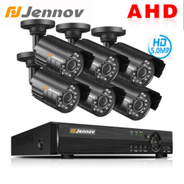 Dvr Set NZ - Jennov AHD Camera 8CH 5.0MP DVR Kit CCTV Set Security Camera System Video Surveillance System P2P Remote View Waterproof IR-C