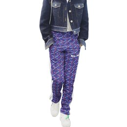 Chinese  18ss Palm Angels Storm Interweave Letter Pants Restore Ancient WaysThree Bar Fabric Bring Trousers Hip-hop Leisure Pants HFWPKZ063 manufacturers