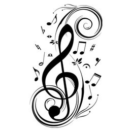 China Beat Note music wall art stickers,vinyl wall stickers music decor,Graphic Art musical home decoration-black supplier music notes for walls suppliers