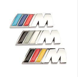 Car Emblem Glue Australia - Top Quality Car Sticker Emblem Badge 3D Metal Decal For BMW M Power Performance 3 4 5 6 7 E Z X M3 M5 M6 E46 E30 E34 Car Styling Accessories