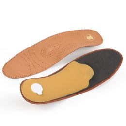 arch support pads NZ - Leather shoe pad arch support insoles Men Women casual sport shoes breathable soft calf full pad