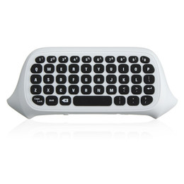 Chinese  47 Keys 2.4G USB Mini Wireless Chatpad Message Keyboard Keypad for XBOX ONE Game Controller Wireless Keyboard Black White manufacturers