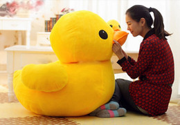 "stuffed plush yellow duck NZ - 40"" Huge Giant JUMBO Plush Yellow Rubber Duck Stuffed Animal Toy Biggest 100cm"