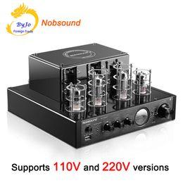 Nobsound MS-10D MKII Amplificateur à lampes MS Amplificateur stéréo noir Hi-FI 25W * 2 2.1 canaux AMP compatible Bluetooth et USB 110V ou 220V