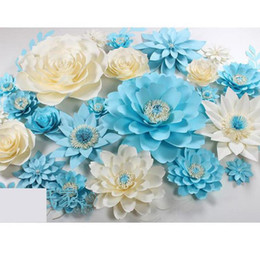 Giant paper flowers wholesale canada best selling giant paper 23pcs set giant paper flowers 7 pcs leaves for showcase wedding backdrops props flores artificiais para decora decorations home deco mightylinksfo