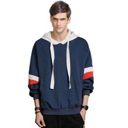 3800a10db4ead 2017 Primavera Otoño Moda blanco Rojo Azul casual Hombre Streetwear Hoodies  Hombres Pullover Patchwork Sudaderas 4XL 5XL