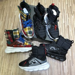 HeigHt sHoe cHina online shopping - 2018 newest Fashion toq high Chain Reaction sneaker designer luxury brand sneakers cheap china shoes for sale