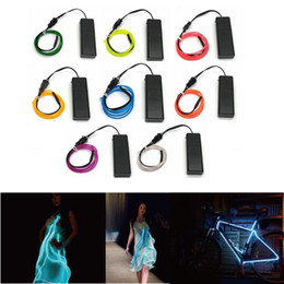 NeoN rope wire car online shopping - 10 Colors m m m m EL Wire Tube Rope AA Battery Powered Flexible LED Strip LED Lamp Neon Cold Light Car Party Wedding Decor