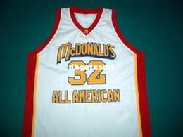 b4328d6d4b4 Cheap Mens white LEBRON JAMES McDONALD ALL AMERICAN JERSEY MCDONALD S WHITE  ANY SIZE XS - 5XL Retro Basketball Jerseys
