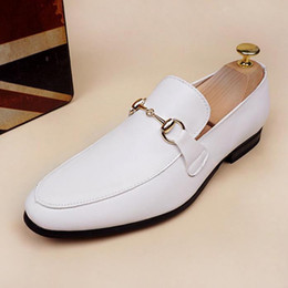 Fashionable low heels online shopping - The new arrival Men s leather small white shoes with fashionable leather shoes British style men s casual shoes higher loafers x20