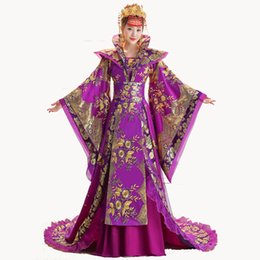 48f1f9aaef Brand New Designer Chinese ancient Tang dynasty queen Tailing Costume  Guzheng Show Clothing Women Hanfu Chinese Photography
