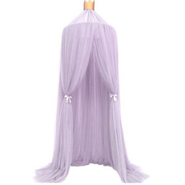 Photography Curtains UK - 240cm Mosquito Net decoration home Baby bed Curtain Round Crib Tent Hung Dome Mosquito Net Photography Props #XT