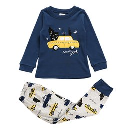 d54b6718fdbb2 boys cartoon car styling pattern pajamas kids sets night suit children  sleepwear baby pyjamas boy nightwear autumn 2-11 year