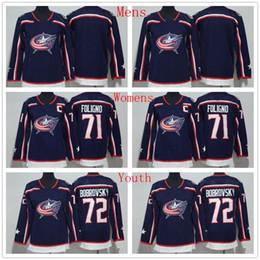 ad7df442b 2018 New Style  72 Sergei Bobrovsky Jersey Columbus Blue Jackets Men Woman  Youth 71 Nick Foligno Women Ice Hockey Jerseys Kids Man Stitched