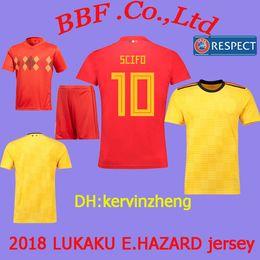 08e7e499fc9 Thailand BELGIUM soccer jersey kids kit LUKAKU jerseys FELLAINI E.HAZARD  KOMPANY DE BRUYNE 2018 World Cup Soccer Jersey 18 19 football shirt