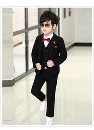 $enCountryForm.capitalKeyWord Canada - One Button High quality Black Kid Complete Designer Handsome Boy Wedding Suit Boys' Attire Custom-made (Jacket+Pants+Tie+Vest) m690