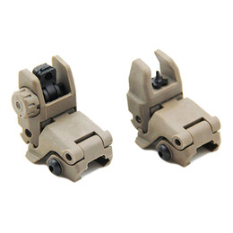 m4 picatinny rail NZ - Tactical M4 AR15 AR-15 Front and Rear Flip Up Sight Rapid Transition Backup Folding Sight for Picatinny Rail