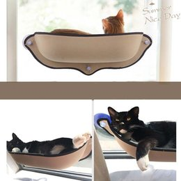 pet house beds 2018 - Hot Sale Cat Hammock Bed Mount Window Pod Lounger Suction Cups Warm Bed For Pet Cat Rest House Soft And Comfortable Ferr