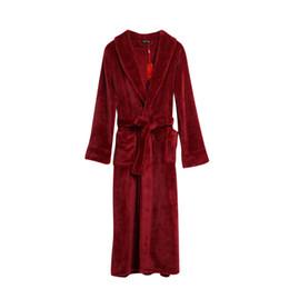 1a7e3f3b26 ZDFURS Winter Thick Warm Women Robes Fleece Sleepwear Long Robe Woman Hotel  Spa Plush Long Hooded Bathrobe Nightgown Kimono