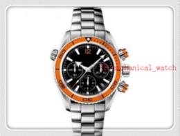 Orange Bezel Canada - Luxury New James Bond 007 Automatic Black Dial Orange Bezel Stainless Bracelet High Quality Mens Watch Men Sport Watches aaa44-9