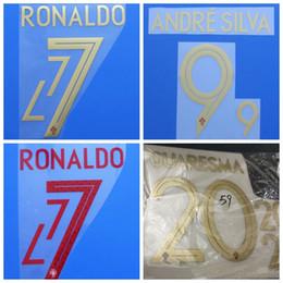 $enCountryForm.capitalKeyWord NZ - 2018 2019 Portugal RONALDO ANDRE SILVA QUARESMA font Name number Print patches badges,Soccer Badges