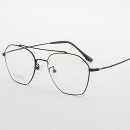 ed926262151ab Titanium Glasses Frame Men Ultralight 2018 Women round Myopia Prescription  Eyeglasses Pure titanium Eyewear Optical Frames FML