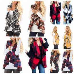 $enCountryForm.capitalKeyWord NZ - Ladies Spring Summer Vest Jacket Women and Girls Plaid Lapel Sleeveless Cardigan Tops Female Loose Cloak Woollen Coat Waistcoat S-XXL new