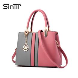 Multi Color Ladies Handbags Australia - SINTIR 8 Colors Fashion Black And Red Patchwork Women Handbag High Quality Luxury Brand Leather Ladies Shoulder Messenger Bags