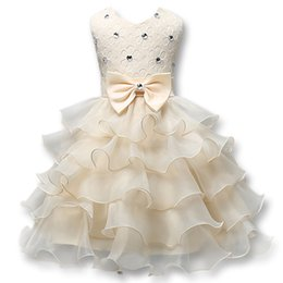 Vente en gros En stock robes de filles de fleur une ligne dentelle filles robes de pageant 2018 robe de communion fille une ligne robe de vêtements de fille de fille de cérémonie