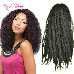 Blonde omBre crochet hair online shopping - Synthetic Mongolian braiding hair inch Afro kinky curly marley braid ombre blonde hair extensions marley crochet braids hair extensions