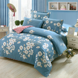 $enCountryForm.capitalKeyWord Canada - Wholesale-Fresh Flowers White blue twin full Queen King Size Bedding Sets Egyptian Cotton Bedlinens Duvet Cover Flat Sheet Pillow Cases