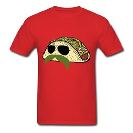 M Sunglasses Brands Canada - 2018 New Brand Clothing Funny Food Taco With Mustache And Sunglasses Men's T-Shirt Men t shirt Popular Anime T-shirts