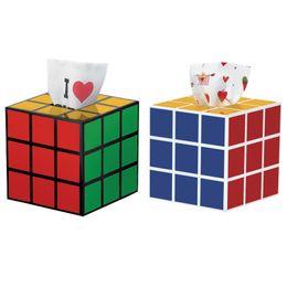 Paper Table Roll Australia - Creative Magic Cube Tissue Box Table Bathroom Decor Square Plastic Tissue Box Towel Napkin Paper Cover Holder For Car Office