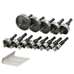 Drilling Cutter Australia - 13PCS High Speed Steel Hole Saw power tools wood Cutter Tool Saw Tooth HSS Drill Bits Set 16-53mm Drilling woodworking Tools