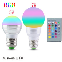 $enCountryForm.capitalKeyWord NZ - Dimmable Magic RGB LED Bulb lamp E27 5W 7W AC85V-265V Soptlight Night light+IR Controller,E14 RGB Spot light for Holiday Decor