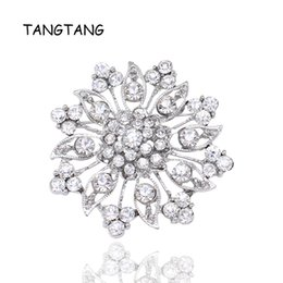 Wholesale Crystal Rhinestones Flower Brooches for Wedding Invitation Cake Decoration Bouquet Kit Brooch Pins Hot Selling BRH1140