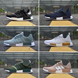 e297d4690 2018 New NMD R1 Primeknit mens Shoes For Men Women Casual NBHD Triple black  White Oreo Camo Nmds Runner Sport Sneakers Eur 36-45