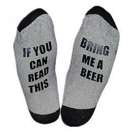 Funny Christmas Socks Canada - 1 Pair of Socks 2018 Fashion Christmas Funny Wine Socks If You can read this Bring Me a Glass of Wine