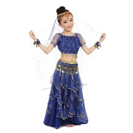 indian costume kids 2018 - New Style Kids Belly Dance Costume Oriental Dance Costumes Belly Dancer Clothes Indian Costumes For Kids 3pcs set cheap