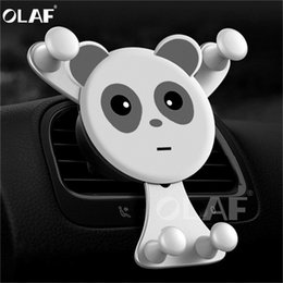 gps phone grip NZ - Car Phone Holder grip For iPhone X Xiaomi Hu0awei Samsung GPS Gravity Reaction Air Vent Mount Cell Phone Holder Stand Clip Panda Bracket