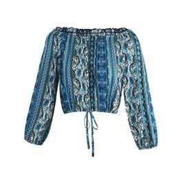 $enCountryForm.capitalKeyWord UK - Bohemian Fashion Summer Long Sleeve Clothes Dress for Women British Style Striped Print Slash Neck Free Shipping