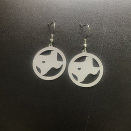 Earring Wholesalers Usa Australia - Texas Map Earrings Stainless Steel with Love Heart USA State TX Geography Map Fashion Jewelry for Women and Men Gift Wholesale