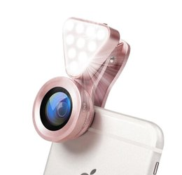 Chinese  Cell Phone Camera Kit 3 in 1 15x Macro Lens Clip-on Fill Light Wide angle For iPhone Samsung Android Photography Selfie manufacturers