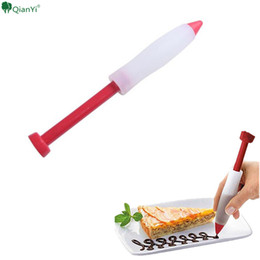 $enCountryForm.capitalKeyWord NZ - 1 pcs Dessert Decorator Pen Silicone Cake Decorating Pen Dessert Decoration Syringe Cylinder Ice Cream Writing Pens