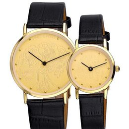 e8b53841c94d Discount gifts for watch lovers - High Quality Lovers Brand Watches Classic  Vintage Leather Strap Quartz