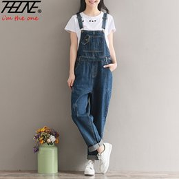 $enCountryForm.capitalKeyWord Canada - THHONE Brand Jeans Women Jumpsuit Denim Romper Overalls Casual Long Trousers Vaqueros Basic Denim Pants Wide Leg Rompers Female