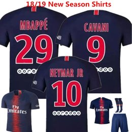 $enCountryForm.capitalKeyWord Canada - Soccer Jeryey Neymar Jr Football Shirts 18 19 Mbappe Cavani France camisa de futebol Draxler Dani Alves Di Maria Home Boy Uniforms Kids Kits