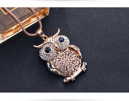 Necklaces Pendants Australia - New Chain Hip Hop Long Pendant Necklace Men Women Fashion Owl Necklace HIP HOP Jewelry Free Shipping