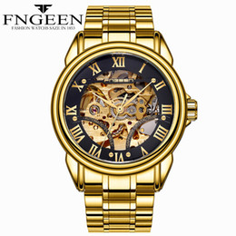 $enCountryForm.capitalKeyWord Australia - Gold Watches for Men Top Brand High Quality Waterproof Steel Mechanical Wristwatches Tourbillon Skeleton Hodinky Male Clock Man Mekanik Saat