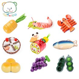 $enCountryForm.capitalKeyWord NZ - [Toy Woo] Wooden Kids Toys Simulation Fruits And Vegetables Kitchen Toys For Children Education Baby Boy Girl Wooden Gifts